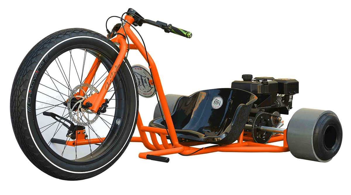 motorisiertes drifttrike orange pleier drift trike selber. Black Bedroom Furniture Sets. Home Design Ideas