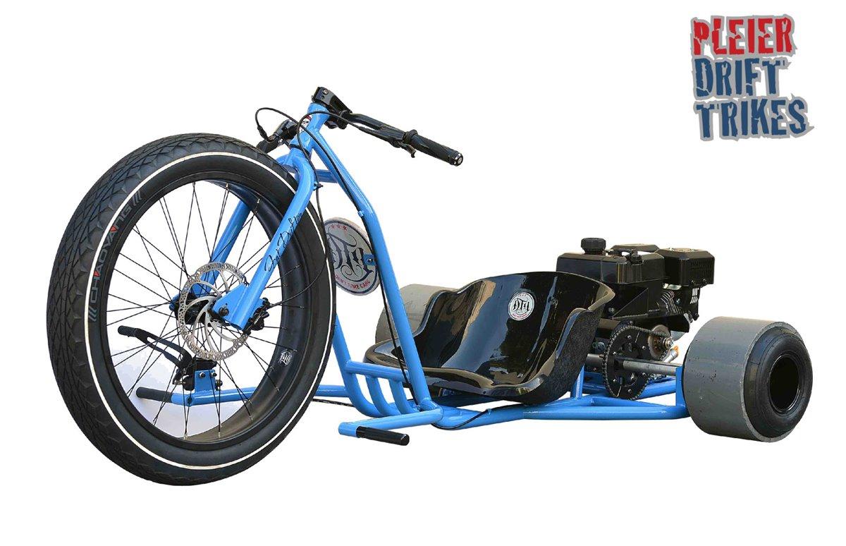 pleier motorisiertes drifttrike blu kart drift trike bike. Black Bedroom Furniture Sets. Home Design Ideas